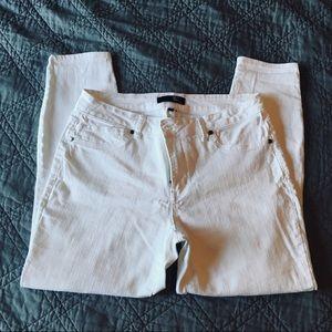 1822 Denim White Jeans Size 12 (Stretchy)